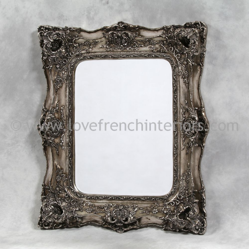Classic Styled Silver French Mirror 2
